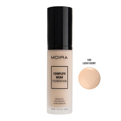 MOIRA COMPLETE WEAR FOUNDATION #100 LIGHT IVORY -CWF001