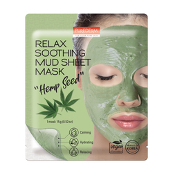 PUREDERM RELAX SOOTHING MUD SHEET MASK -ADS833