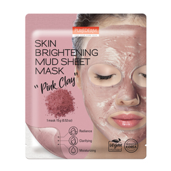 PUREDERM SKIN BRIGHTENINGMUD SHEET MASK - PINK CLAY  ADS834