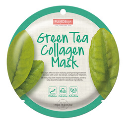 PUREDERM GREEN TEA COLLAGEN MASK - ADS807