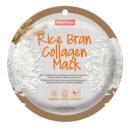 PUREDERM RICE BRAN COLLAGEN MASK - ADS811